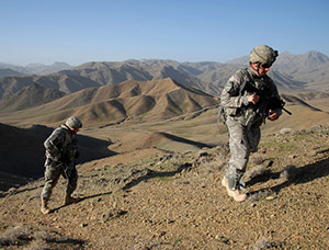 US Army in Afganistan Ridge