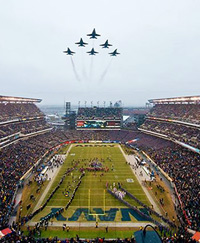 Blue Angels' Fly Over at Army Navy Game