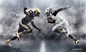 Army Navy Game Poster by Nike